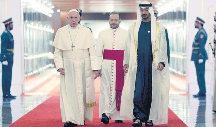 ¿Cuál es la agenda del Papa Francisco en los Emiratos Árabes Unidos?