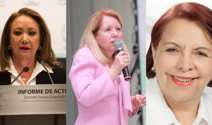 Yasmín Esquivel Mossa, Loretta Ortiz Ahlf y Cecilia Maya García.