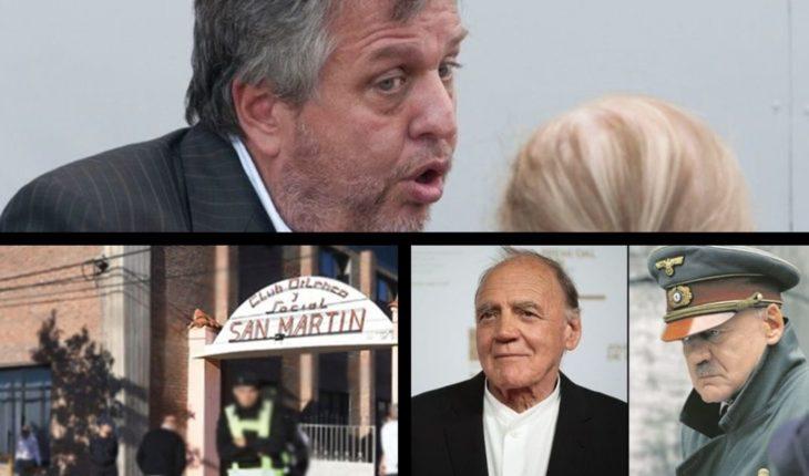 Abogada cuestionó a Stornelli, primo de Sala dice que lo mataron, murió el actor que interpretó a Hitler y mucho más...