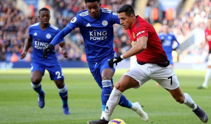 Alexis Sánchez no gravitó en triunfo del United en visita al Leicester