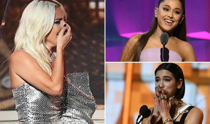 Ariana Grande, Dua Lipa, Lady Gaga y todos los ganadores de los Grammy 2019