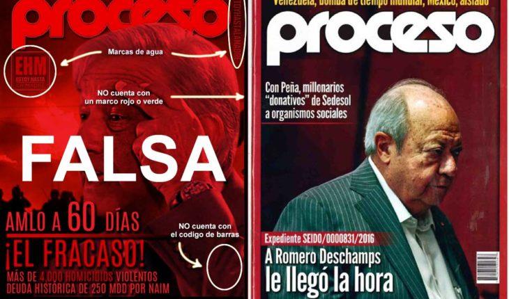 Circula portada falsa de revista donde se dice que AMLO fracasa