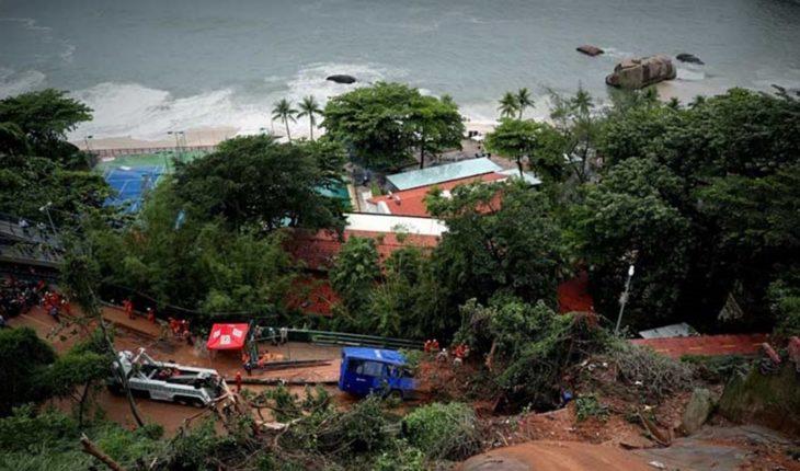 """Declararon """"estado de crisis"""" tras el temporal en Río de Janeiro: hay cinco muertos"""