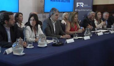 El Frente Renovador presentó su propio Código Penal