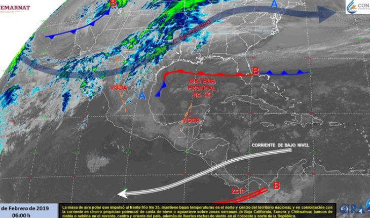 Este lunes se esperan lluvias en el norte del país, en el resto de México dominará el ambiente cálido