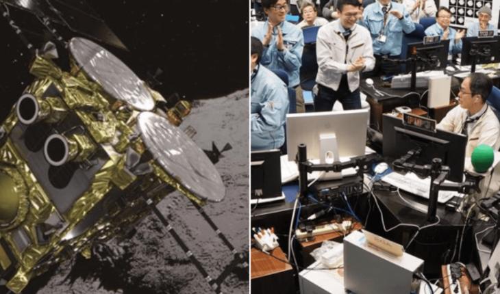 Nave espacial japonesa aterriza sobre asteroide lejano