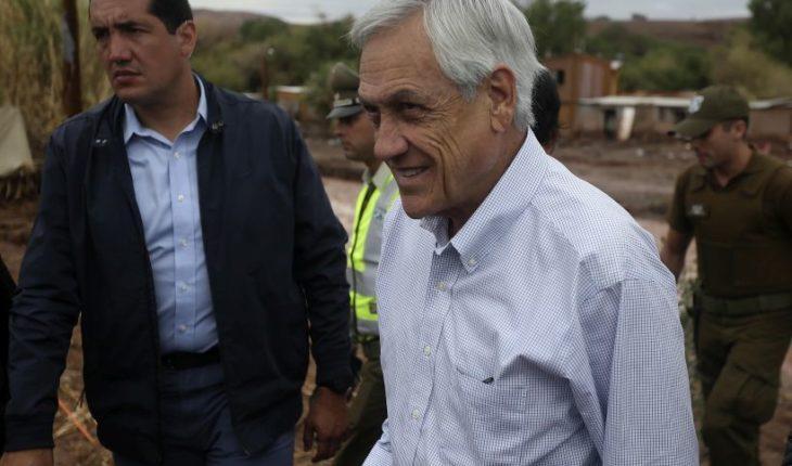 Piñera entregará bonos para damnificados por invierno altiplánico en el norte