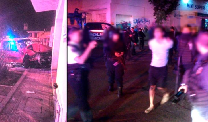 Policías y delincuentes protagonizan balacera en Villas del Pedregal de Morelia, hay un detenido