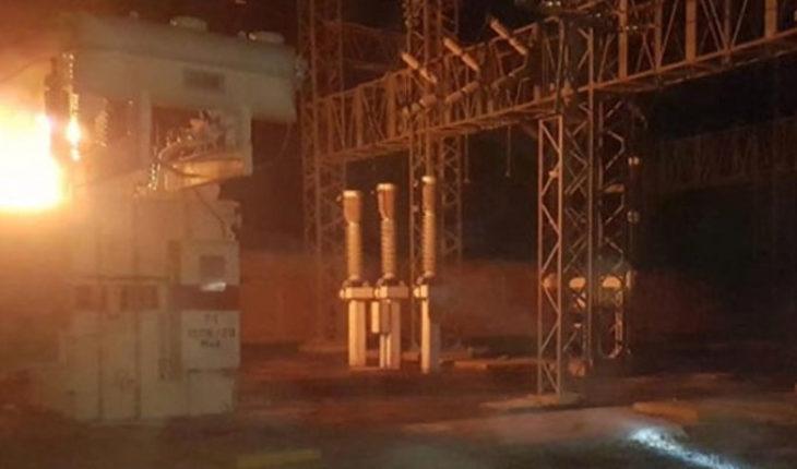 Se registra un incendio en la sub estación de la CFE en Huetamo, Michoacán