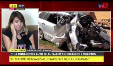 Dejó el auto en el taller, se lo robaron y chocaron: 2 muertos