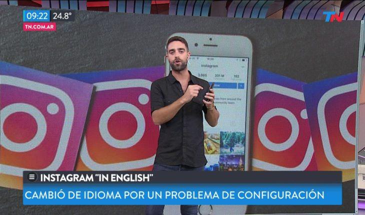 Instagram cambió de idioma por accidente