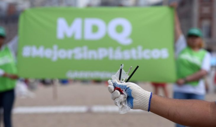 Cleaning of plastics on the beaches of Mar del Plata
