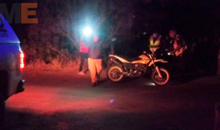 Derrapa su motocicleta y fallece en Tarímbaro, Michoacán