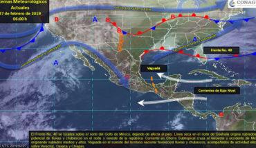 Este miércoles se prevé ambiente seco y caluroso sobre la mayor parte del territorio nacional