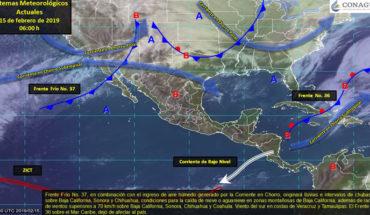 Este viernes se esperan lluvias en Baja California, Sonora y Chihuahua
