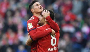 La conexión James-Javi Martínez sitúa al Bayern a la altura del Dortmund