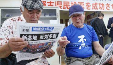 Okinawa rechaza en referendo reubicar base militar de EEUU