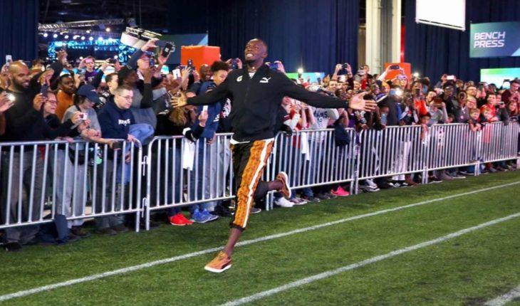 Usain Bolt gets record at a Super Bowl event