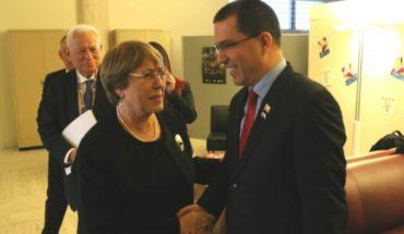 Venezuela: Canciller Arreaza sostuvo reunión con Michelle Bachelet