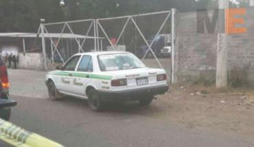 Asaltan a un taxista y resulta herido al recibir un balazo en Uruapan, Michoacán