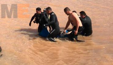 Buzos de PCE recuperan cadáver de ahogado en la presa El Tablón, Puruándiro