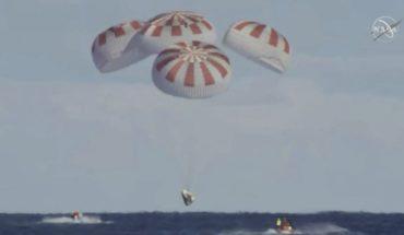 Cápsula de SpaceX amariza exitosamente en el Atlantico