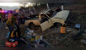 Choque y volcadura en la carretera Zamora