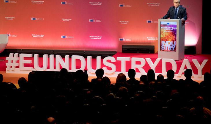 Jean-Claude Juncker en la 3ª edición de los European Industry Days, la conferencia anual de la CE sobre política industrial (5/2/2019). Foto: Etienne Ansotte, EC-Audiovisual Service, © European Union, 2019. Blog Elcano