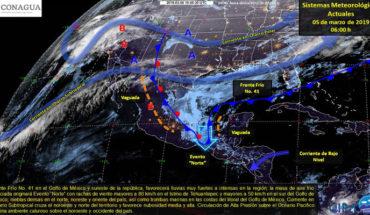 Este martes se esperan lluvias y granizadas en el oriente y sur, se mantiene ambiente caluroso en el noroeste y occidente del país
