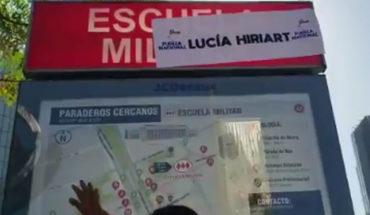 """Grupo rebautizó estación Escuela Militar como """"Lucía Hiriart"""""""