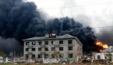Las dramáticas fotos de explosión en fabrica de China; van 47 muertos