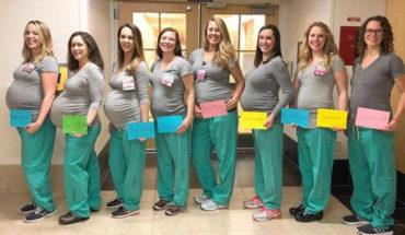 Nueve enfermeras de la misma unidad de partos de un hospital de Estados Unidos, darán a luz casi al mismo tiempo
