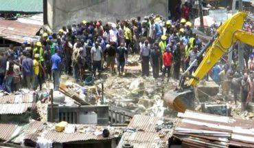 Sigue la desesperada búsqueda de niños atrapados tras derrumbe en Nigeria
