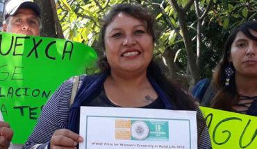 Teresa Castellanos, opositora a la termoeléctrica de Huexca, gana premio de derechos humanos