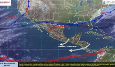 Tormentas en el noreste y oriente de México, lluvias en la Península de Yucatán, temperaturas cálidas en el resto del país