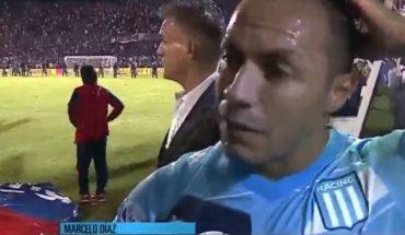 [VIDEO] Díaz habló tras coronarse campeón de la Superliga argentina con Racing