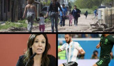 Alarmante índice de pobreza en Argentina, habló Stanley, menú Lollapalooza, inesperado anuncio de Higuaín y más...