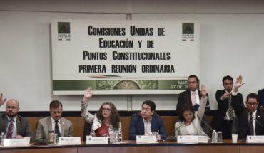 Aprueban en comisiones dictamen de nueva reforma educativa