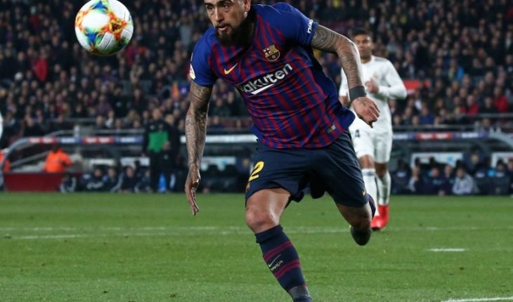 Arturo Vidal entered and stood out in triumph of the Barcelona home of Real Madrid FC Barcelona