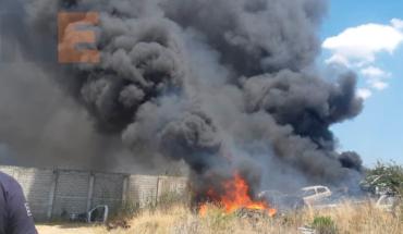 "Be burned vehicle in junkyard ""San Jorge"" of Tarímbaro, Michoacán"