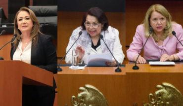 Yasmín Esquivel, Celia Maya y Loretta Ortiz, candidatas a ministra de la Suprema Corte de Justicia de la Nación.