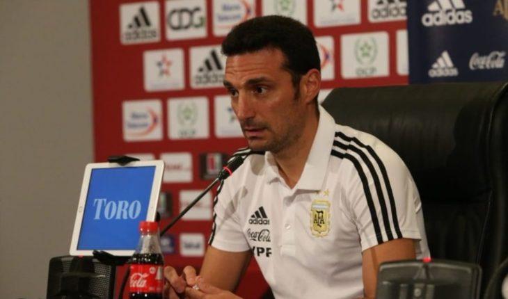 Conferencia de Scaloni: equipo confirmado para mañana y Messi para la Copa América