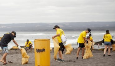 Day of cleaning in Pichilemu