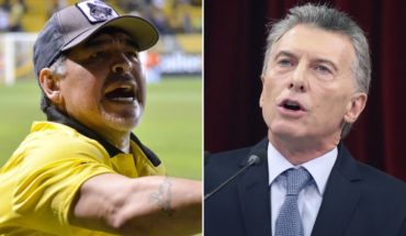 Diego Maradona criticized the speech of Mauricio Macri and pointed to guided