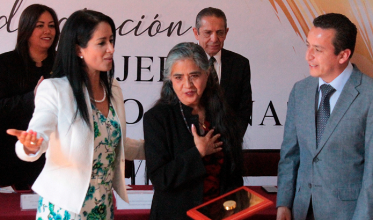 """""""Feminism is women pain product,"""" Ruby Gomez fields, decorated by the Local Congress"""