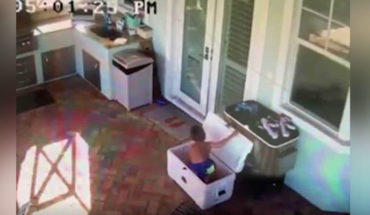 """In the United States, a 5-year-old boy trapped in a cooler while playing """"hide and seek"""""""