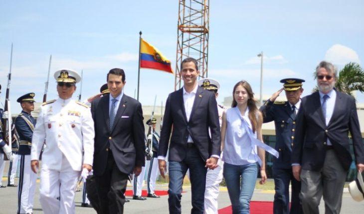 Juan Guaidó came to Caracas after touring South America
