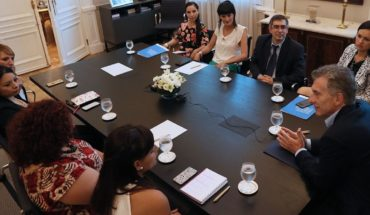 Macri took part in a meeting on prevention of pregnancy teens
