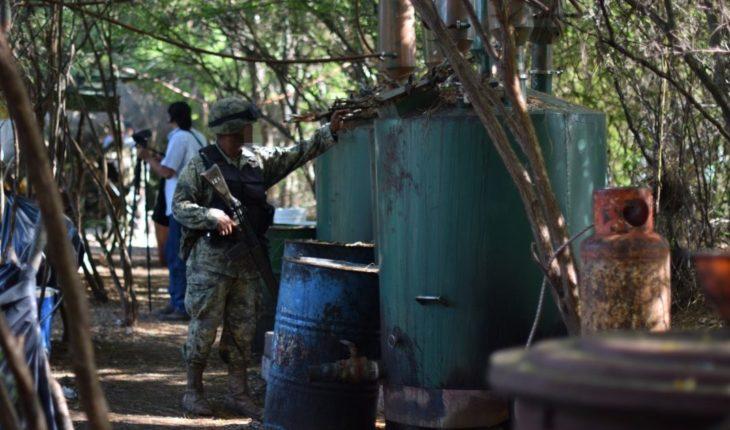 Marina destroyed 31 narcofábricas en Jalisco in Sinaloa