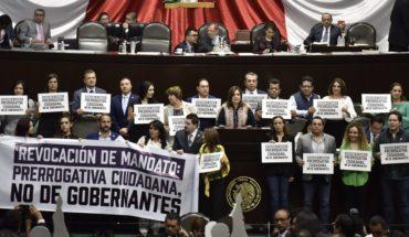Morena impone su mayoría para la revocación de mandato